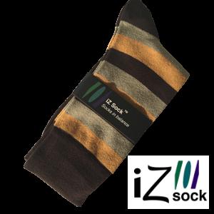12 par - iZ Sock, Bambus modestrømper med tykke striber.