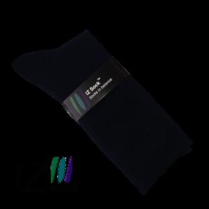 Bambus strømper i str. 39 - 41 fra iZ Sock i sort, 5 par