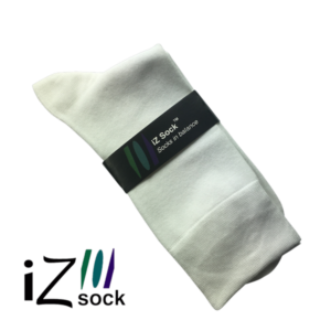 Hvide bambus strømper - iZ Sock