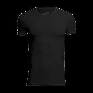 Sort T-shirt fra JBS - 2 pak. Bambus med rund hals.