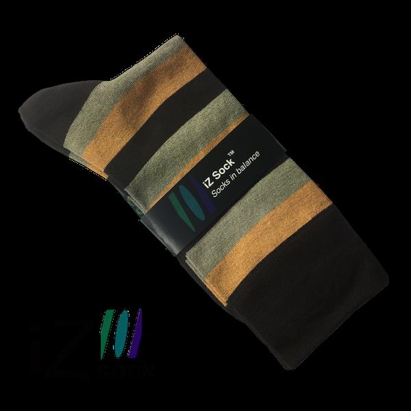 iZ Sock, Bambus Trendy modestrømper med tykke striber