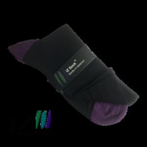 iZ sock, bambus strømper med violet hæl og tå.