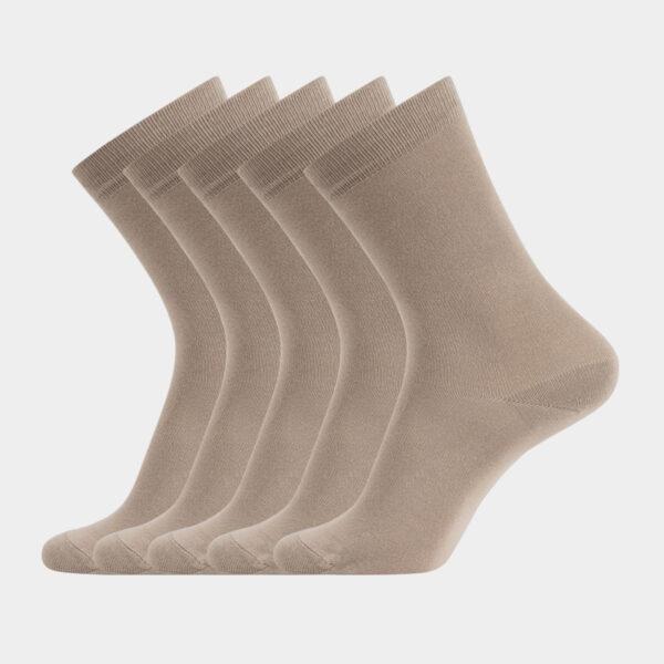 5 par beige strømper i bambus fra Resteröds (Størrelse: 40-45)