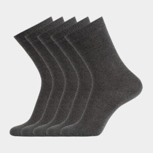 5 par mørkegrå bambus strømper til herre fra Resteröds (Størrelse: 40-45)