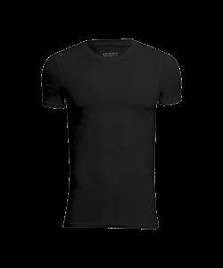 JBS 2-pak bambus t-shirt med rund hals i sort til herre Black L