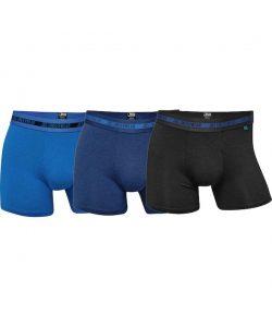 JBS 3-pak bambus underbukser i sort og blå nuancer 3XL