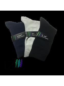 iZ Sock 3pak bambusstrømper i navyblå, sort og lysegrå til unisex 44 - 47