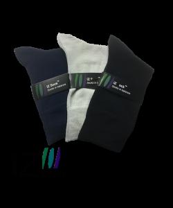 iZ Sock 3pak bambusstrømper i navyblå, sort og lysegrå til unisex 48 - 50