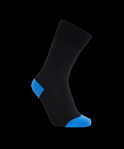 iZ Sock bambusstrømper i blå hæl og tå til unisex Blå 42 - 43