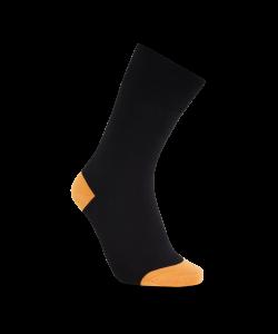iZ Sock bambusstrømper i orange hæl og tå til unisex Orange 48 - 50