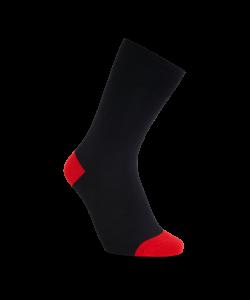 iZ Sock bambusstrømper i rød hæl og tå til børn 35-38