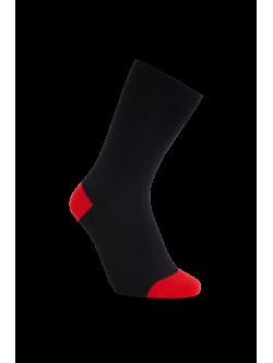 iZ Sock bambusstrømper i rød hæl og tå til unisex 35-38