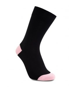 iZ Sock bambusstrømper i lyserød hæl og tå 44 - 47 Lyserød