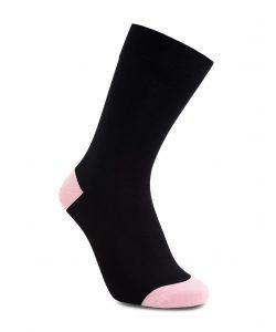 iZ Sock bambusstrømper i lyserød hæl og tå til børn 35-38 Lyserød