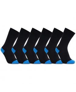 iZ Sock 6pak bambusstrømper i blå hæl og tå 612215c74bb14