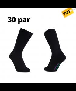iZ Sock 30par bambusstrømper i sort 42 - 43